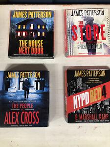 Lot of 4 James Patterson Unabridged Audiobooks. CD.