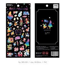Alice in wonderland theme colorful mini DIY decoration sticker 9.8*19cm PVC 1pcs