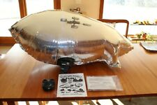 4.5' Rc Blimp w/ 2 channel transmitter and twin turbo fan receiver