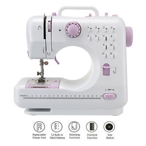 Portable Mini 12 Stitches Electric 2 Speed Sewing Machine Household Tailor DIY