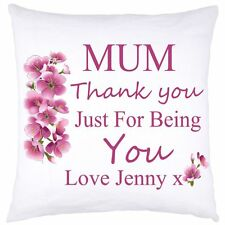 PERSONALISED CUSHION COVER MOTHER'S DAY 2 BIRTHDAY WEDDING ANY OCCASION GIFTS