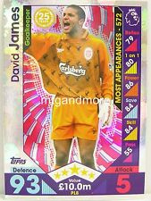 Match Attax 2016/17 Premier League -  PL8 David James - Player Legends