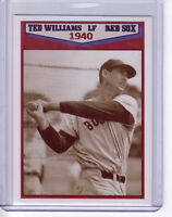 Ted Williams '40 Boston Red Sox rookie season original Miller Press 200 exist 🔥