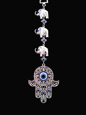 Blue Hamsa Evil Eye  Charm Almulet  Hanging or Wall Decoration for Protection