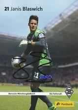 Janis BLASWICH + Borussia Mönchengladbach + Saison 2013/2014 + Autogrammkarte