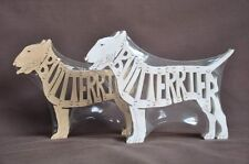 Bull Terrier Dog Wooden Amish Hand Cut Scroll Saw Toy Puzzle