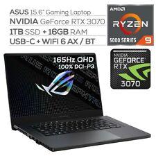 "ASUS ROG ZEPHYRUS G15 GA503 15.6"" OCTA RYZEN 9, 16GB, 1TB SSD RTX 3070 QHD 165Hz"