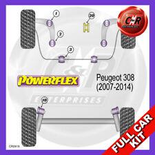 Peugeot 308 Petrol (2007-2014)  Powerflex Complete Bush Kit