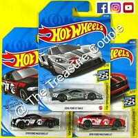 Hot Wheels - Lot of 3 - FORD BORLA - '16 GT RACE - '18 MUSTANG GT Black/Red D18