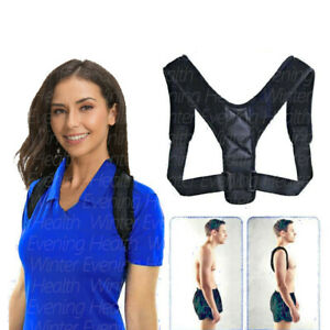 Posture Corrector Support Back Brace Shoulder Belt Adjustable Men Women Kids