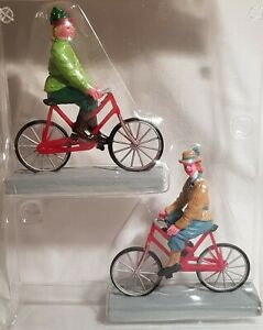 Lemax Caddington Village Figurine. Bloomers & Bicycles, set of 2.# 72514. c.2017