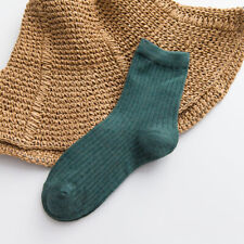 Female Tube Socks Solid Color Socks Double Needle Women Socks Autumn New Arrival
