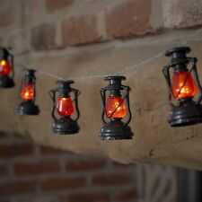 10 Retro Miners Lantern LED Fairy String Lights Kitchen Shed Party Decorations