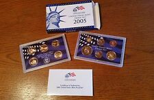 2005 S UNITED STATES MINT PROOF SET COINS 50 STATE QUARTERS 11 COIN SET WITH COA
