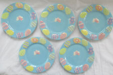 Blossoms & Blooms Pastel Easter Bunny Desse 00003A84 Rt Plate - Set Of 5