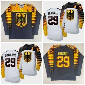 Custom 2020 Leon Draisaitl #29 Hockey Jersey Team Germany Deutschland Sewn Names