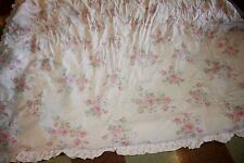 Rachel Ashwell Simply Shabby Chic Full Queen Roses reversible ruffle comforter