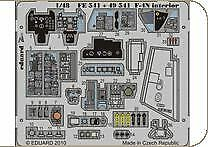 Eduard 1/48 F-4N Phantom II Interior self-adhesive # FE541