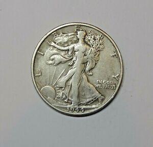 USA ; SILVER WALKING LIBERTY  HALF DOLLAR 1944 . 0.900 SILVER. KM 142