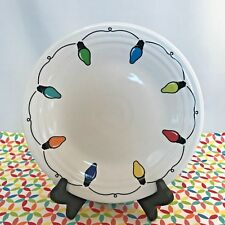 Fiestaware White String of Lights Lunch Plate Fiesta Exclusive 9 in Luncheon NWT