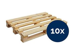 Einwegpaletten 60 x 80 cm NEU Holzpaletten Massivholz Transport 10 Stück