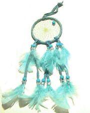 "#13 Native Spirits 2"" Dream Catcher Leather Quiet Sleep No Bad Dreams Nightmares"