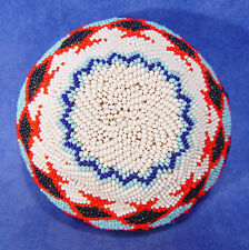 Paiute Coiled Willow / Beaded Basket c1900-1950 ex Nevada ranch collection Mint!