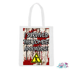 I Survived The Zombie Apocalypse Tote Bag | Walking Dead | Zombie Shopping Bags