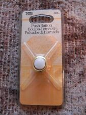 Trine Push Button Door Bell, 450G, Gold Case with White Button