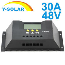 Solar Controller 30A 48V LCD Solar Battery Controller Charge Regulator CM3048