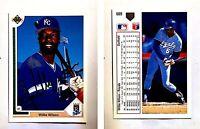 Willie Wilson Signed 1991 Upper Deck #609 Card Kansas City Royals Auto Autograph