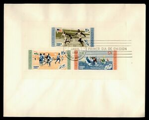 DR WHO 1959 DOMINICAN REPUBLIC FDC OLYMPICS SPORTS S/S  g00580