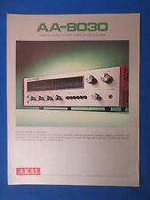 AKAI AA-8030 RECEIVER SALES BROCHURE ORIGINAL FACTORY ISSUE THE REAL THING