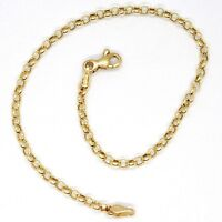 18K YELLOW GOLD BRACELET, 18 CM, MINI ROLO 2 MM CIRCLE LINKS, MADE IN ITALY