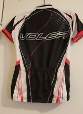 Voler Cycling Jersey Ss Womens Race Raglan  2XL  white/blk & red made in the Usa