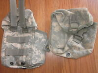 SET OF 2 Military Issue ACU IFAK MOLLE First Aid Pouch Utility 6545-01-531-3647