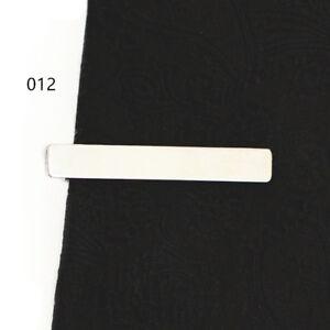 DIY Mens Silver Metal Necktie Tie Bar Chrome Clamp Plain Skinny Tie Clip Pin 4cm