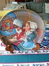 "Reco Childhood Almanac""Giving Thanks"" Plate # 2497 Dl by Sandra Kuck Coa"