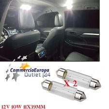 COPPIA LAMPADINE SILURO AUTO LIGHT LUCE LAMPADA 12V 10W luce calda 11x39mm lamps