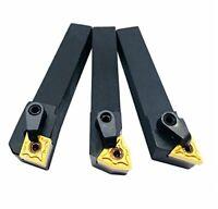 CNC Lathe Excircle Indexable Carbide Turning Tool Holder Bit Set Carbide Inserts