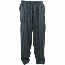 Pantaloni da uomo neri a fantasia righe