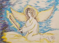 Guardian Angel Collectible Art Print 8x10 Signed Artist Kimberly Helgeson Sams