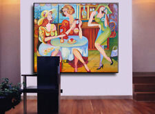 """57"""" - WOMEN PARTY____________original painting by ANNA"""