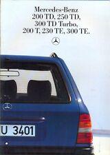 Mercedes-Benz W124 Estates sales brochure 1985 Italian market