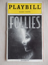 May 2001 - Belasco Theatre Playbill - Follies - Blythe Danner - Gregory Harrison