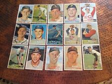 ( 15 ). 1957 Topps 5th Series cards, ex-cond.,no dupes, no creases or wrinkles