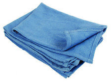 24 Count - NEW BLUE GLASS CLEANING SHOP TOWELS/HUCK/ SURGICAL/ DETAILING TOWELS