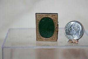 Miniature Dollhouse Antique Photo Album w African American Family Photos 1:12 NR