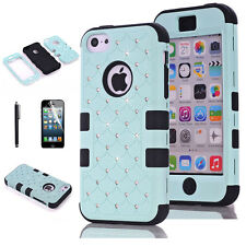 For iPhone 5C cases Shockproof  Rugged Soft & Hard Case Cover +touch pen+film