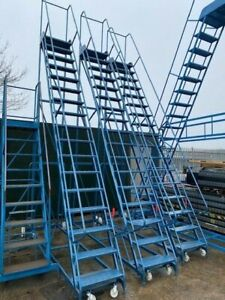 16 Tread Heavy Duty Industrial Warehouse Picking Ladders, superb condition. used